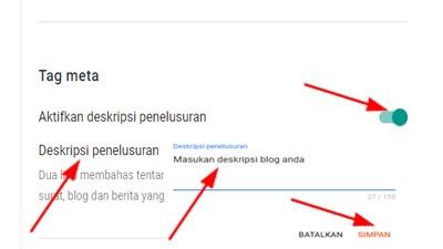 Cara Membuat Deskripsi Penelusuran Artikel Blog