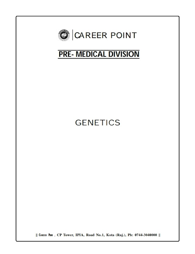 GENETICS NOTE BY CAREER POINT