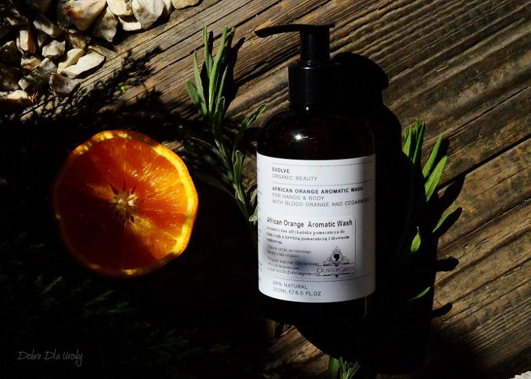 Evolve Organic Beauty Luksusowa Kąpiel do dłoni i ciała z aromatyczną Afrykańska Pomarańczą i Drewnem Cedrowym