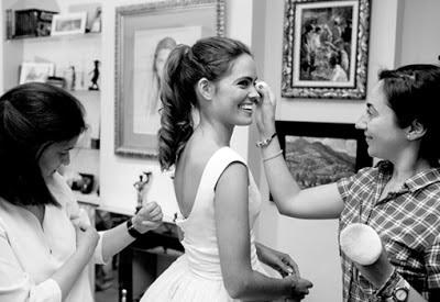 Maquillaje novia coleta Boda