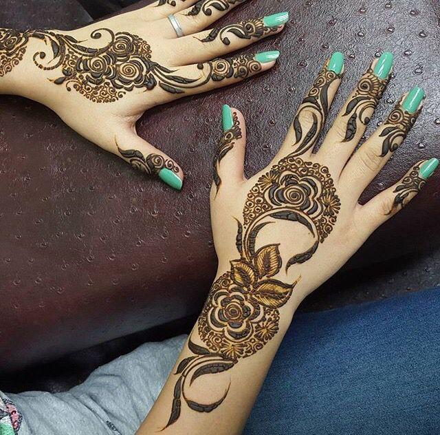 Khaleeji Mehndi Designs For Hands