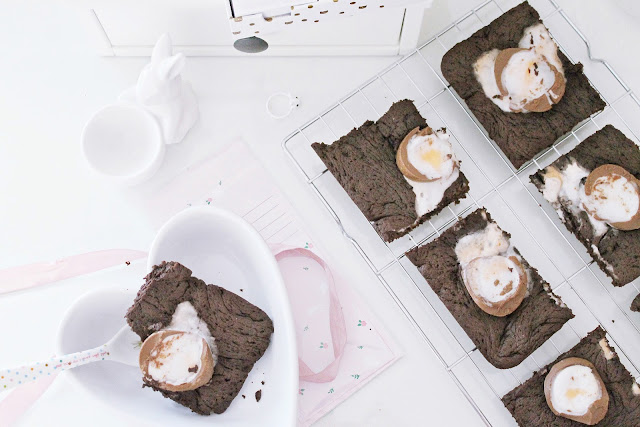 No butter creme egg brownies recipe