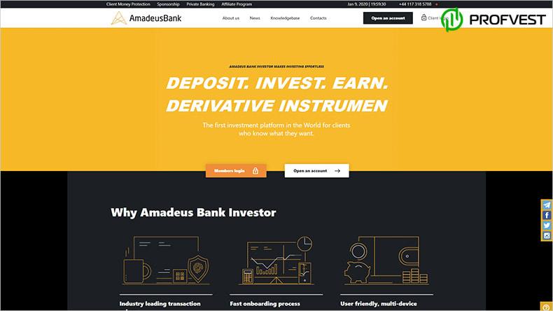 Amadeus Bank обзор и отзывы HYIP-проекта