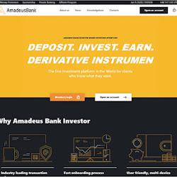Amadeus Bank: обзор и отзывы о amadeusbank.com (HYIP платит)