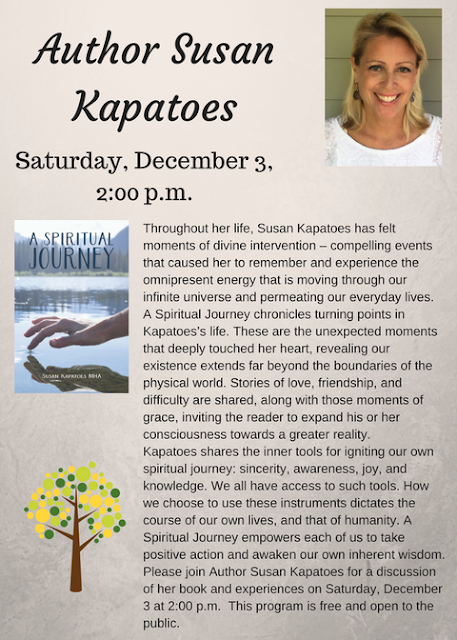 Franklin Library: Author Susan Kapatoes - Dec 3 - 2:00 PM