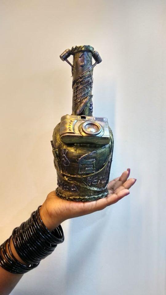 Bird house Bottle art
