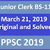 Junior Clerk 2019 PPSC