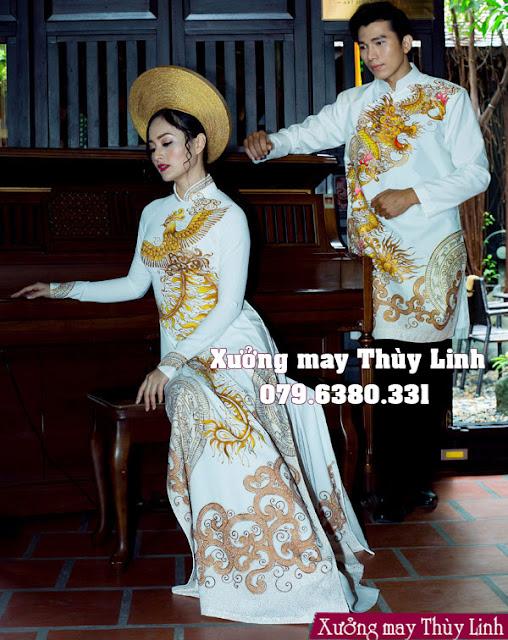 May áo dài cưới ở Hà Nội