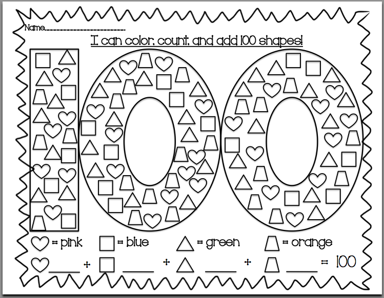 Kindersmarten 100th day of school for 100th day of school crown template