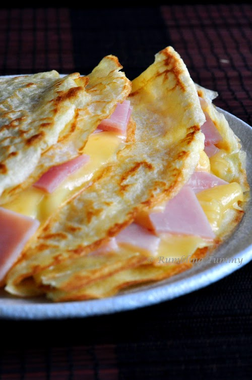 Rumbling Tummy French Crepe Ham And Cheese