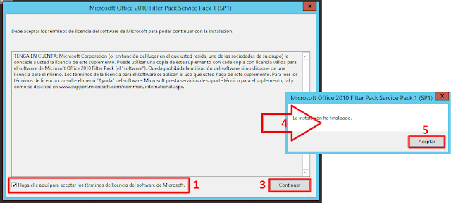 Service Pack 1 para Microsoft Office 2010 Filter Pack de 64 bit - Instalación