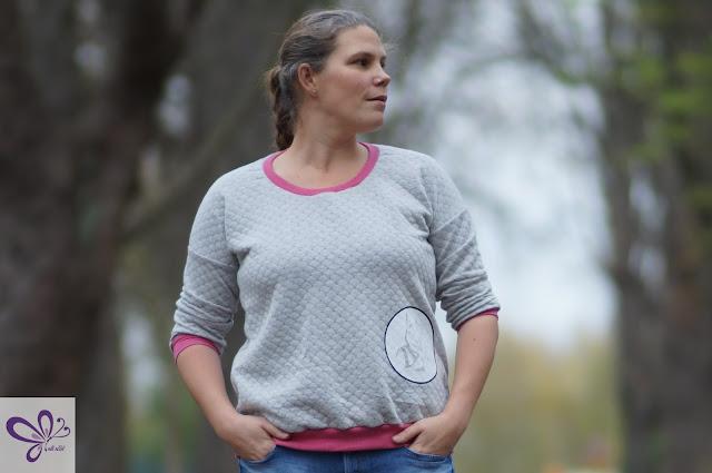 Pulli, Sweatshirt, Sweat, kaidso Onlinekurse, Maßschnitt, selfmade, shhhout, llama