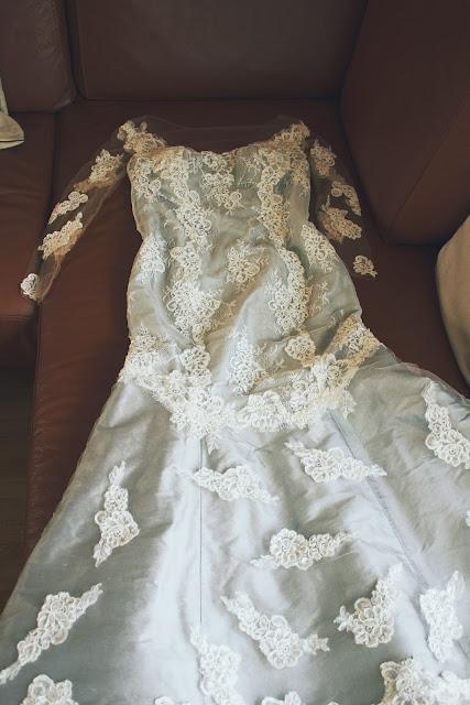 robe de mariée en dentelle couture créateur à Versailles