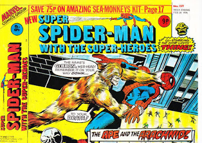 Super Spider-Man with the Super-Heroes #159, the Gibbon
