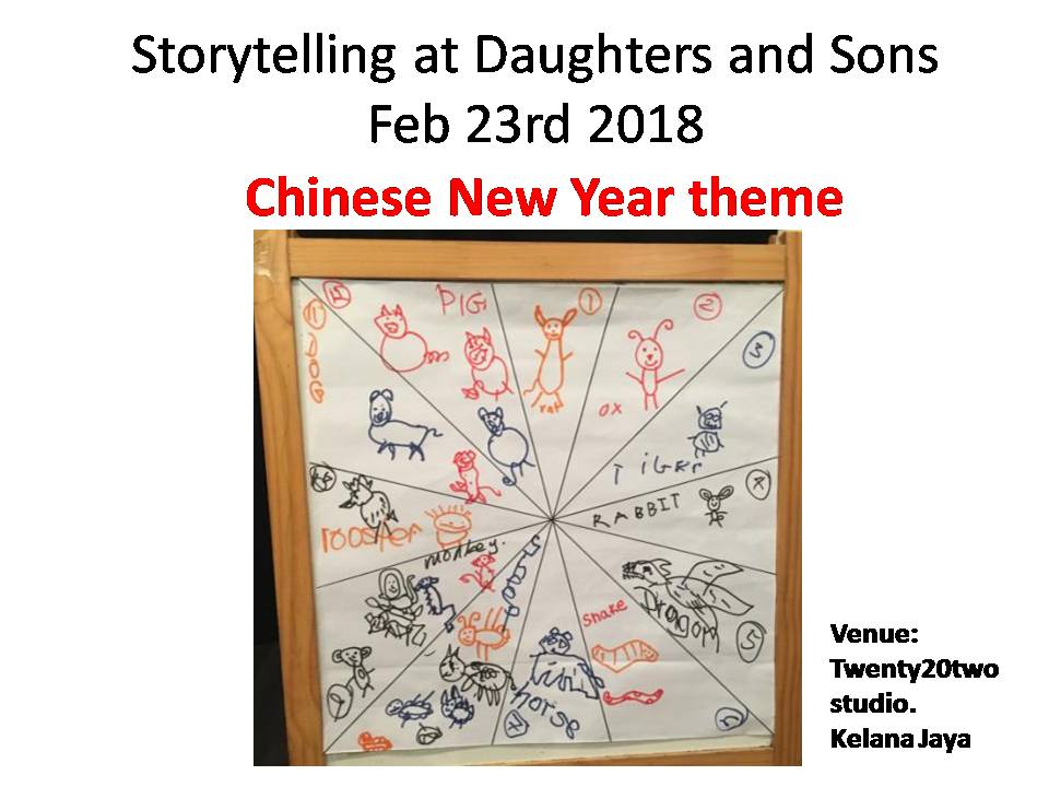 2018 storytelling at daughters and sons chinese new year theme feb 23rd