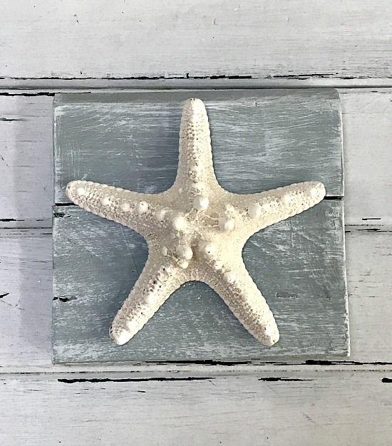DIY Pallet starfish decor
