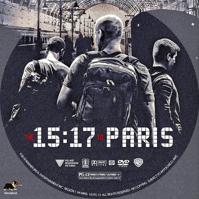 The 15:17 to Paris DVD Label