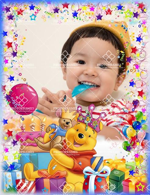 Marco para fotos de cumpleaños de Winnie the Phoo