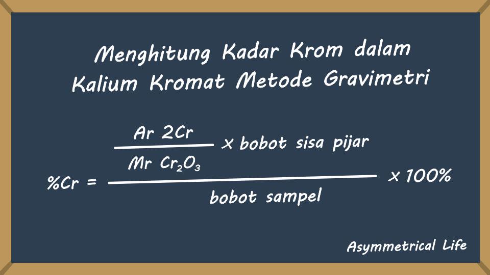 Perhitungan Kadar Krom dalam Kalium Kromat Metode Gravimetri