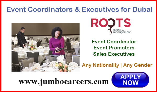Dubai even management jobs for Indians, Recent UAE job openings,