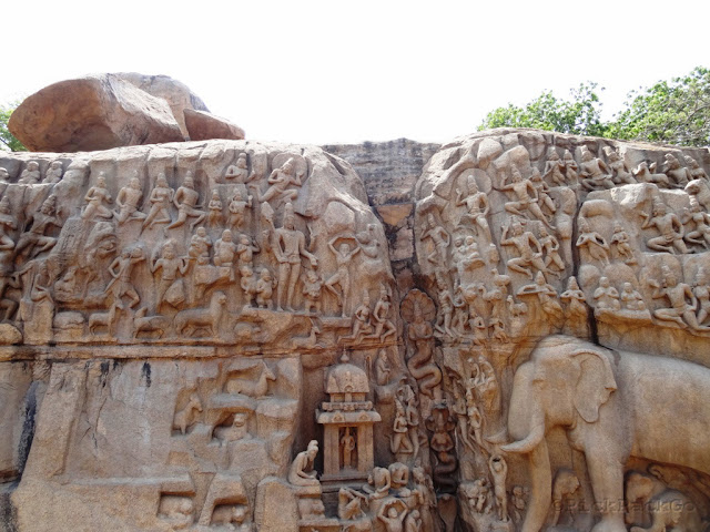 Descent of Ganges Bas Relief  - UNESCO World Heritage Site - Mahabalipuram India - Pick, Pack, Go