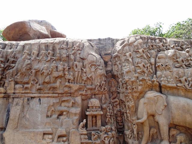 Descent of Ganges Bas Relief  - UNESCO World Heritage Site - Mahabalipuram India - Pick, Pack, Go
