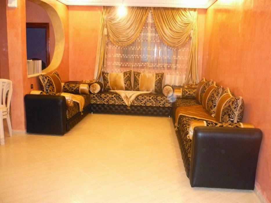 salon marocaine moderne salon marocain beldi style royal. Black Bedroom Furniture Sets. Home Design Ideas