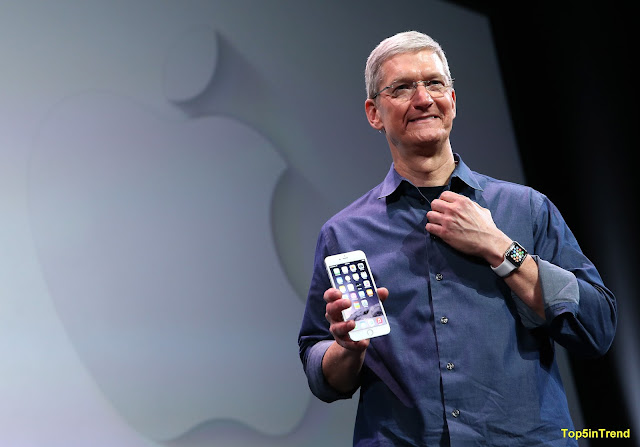 Apple CEO during the launch of Aplle X, Apple 8