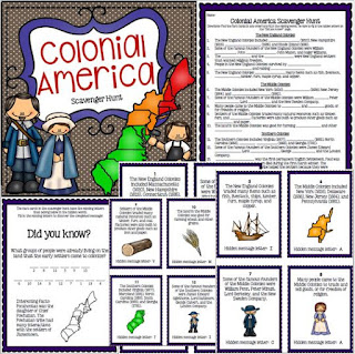 https://www.teacherspayteachers.com/Product/Colonies-New-England-Middle-Southern-Scavenger-Hunt-Activity-1616635