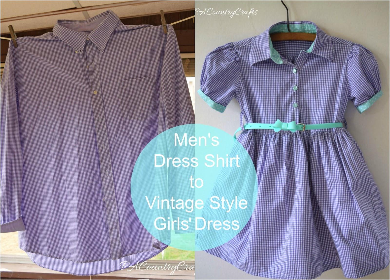 370e83d77ed8 15 Ιδέες για να Μετατρέψετε ένα Ανδρικό Πουκάμισο σε Παιδικό Φόρεμα ...