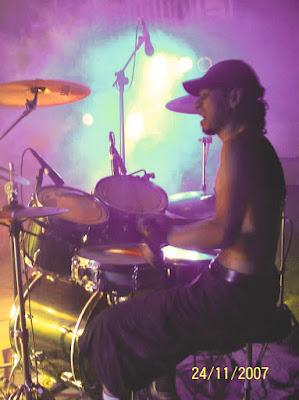 uno de los mejores bateristas del metal colombiano David Montoya