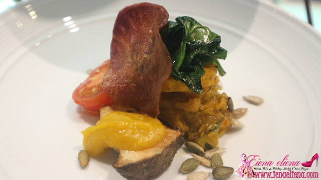 6. Entrée · Maple Glaze Pumpkin · King Mushroom and Spinach