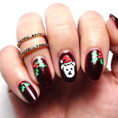 Christmas Dog Nails