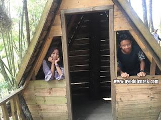 Rumah Panggung di Sumbersuko Forest, Wagir, Malang