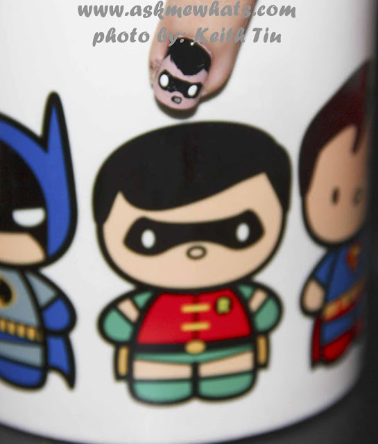 a photo of DC Superheroes Nail Art Tutorial Robin