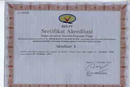 Sertifikat Akreditasi BAN PT Universitas Terbuka (UT) Terbaru 2018