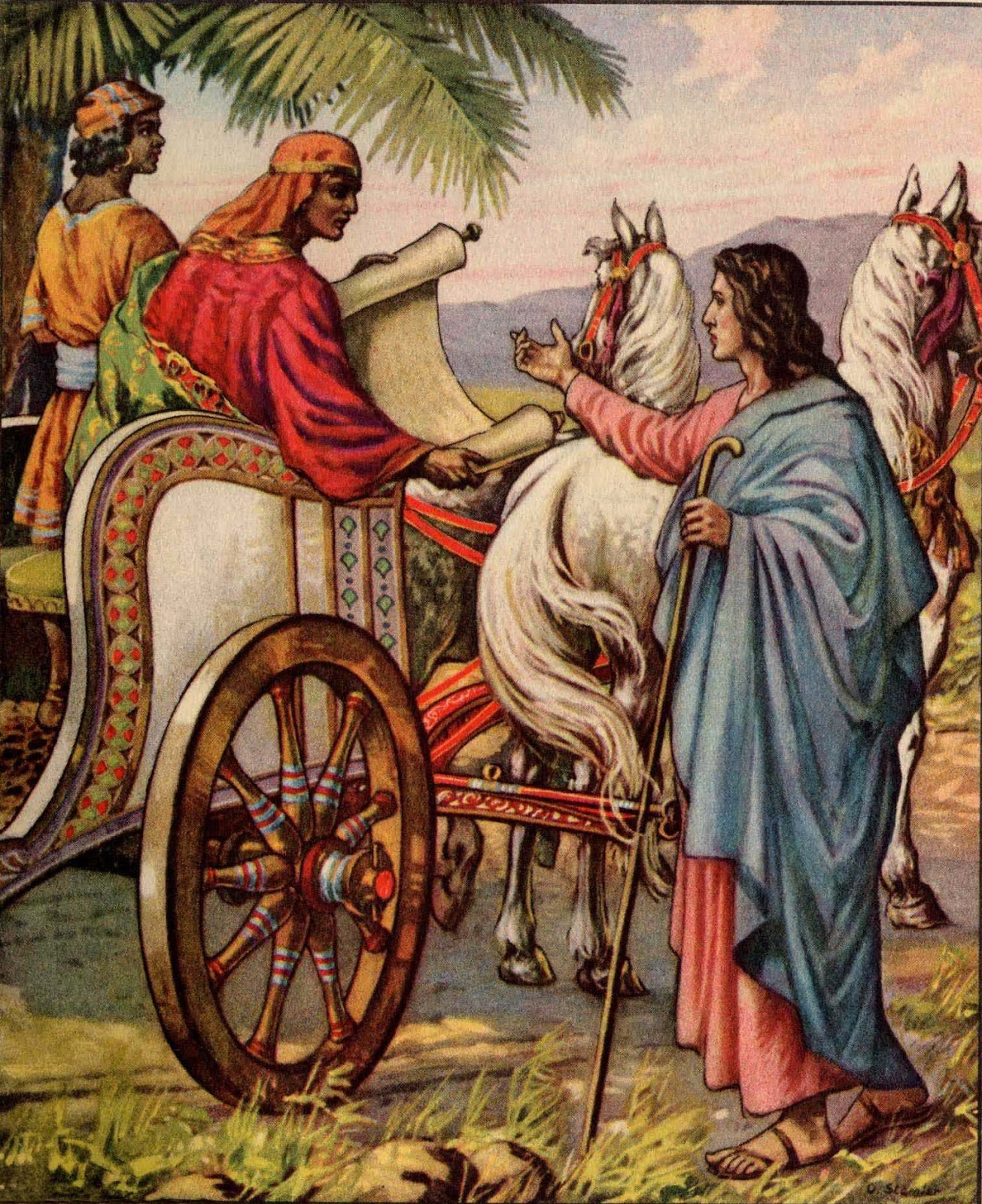 Philip, a deacon of the early church, was walking down a desert road on his way to Gaza, he saw an Ethiopian eunuch sitting in his chariot reading from the scriptures.