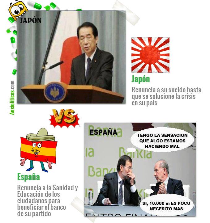 Chiste de la Crisis: Japón versus España