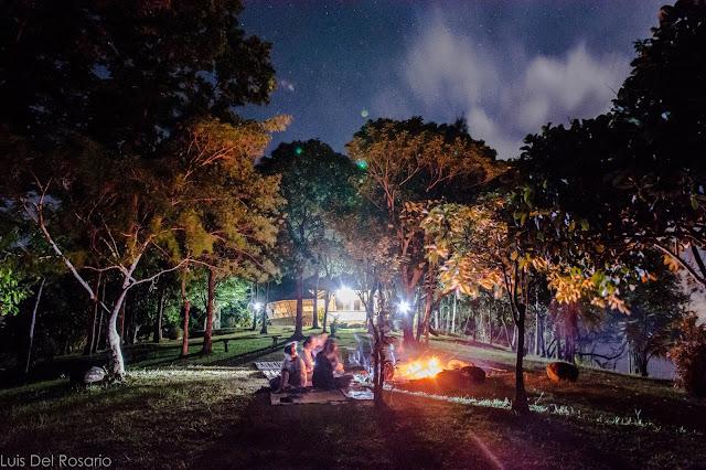 Camp fire in Lumot Lake, Cavinti, Laguna