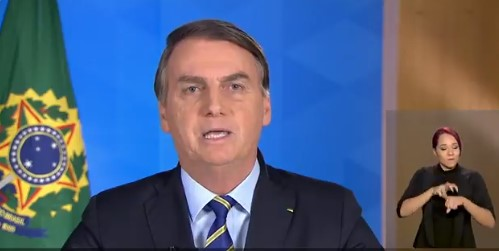 'Objetivo é salvar vidas e empregos', diz Bolsonaro em pronunciamento