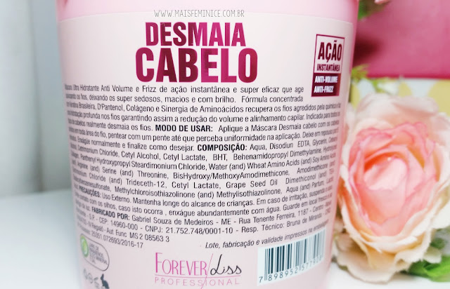 Composição Máscara Desmaia Cabelo - Forever Liss