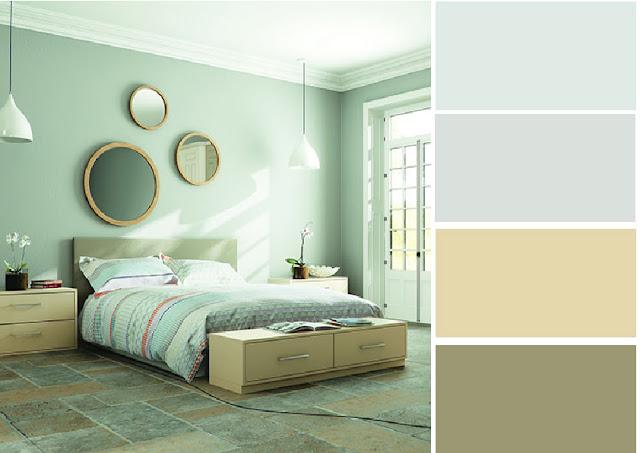 40 combinaciones de paletas de colores para dormitorios - Combinacion de colores para habitaciones ...