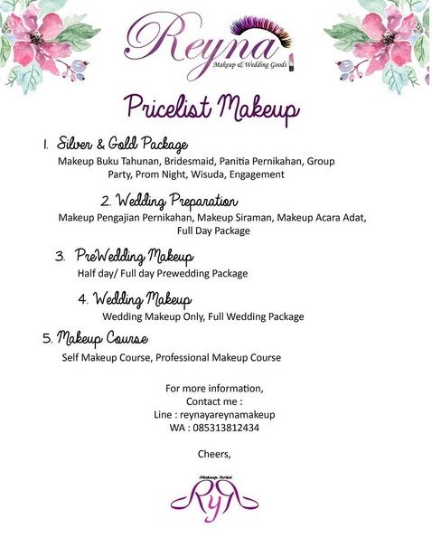 makeup artist prices for weddings make up artist amp wedding goods jakarta bekasi 5656