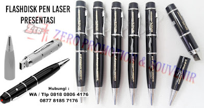 Flashdisk Pen Laser Presentasi, USB Pen 3 in 1 ( Laser pointer, Flash disk & Pen ).