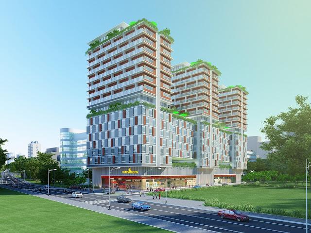 Phối cảnh dự án căn hộ, văn phòng Charmington Lapointe 181 Cao Thắng, phường 12, quận 10, TP.HCM