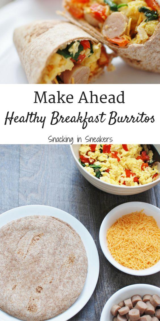 Make Ahead Breakfast Burritos #BREAKFAST