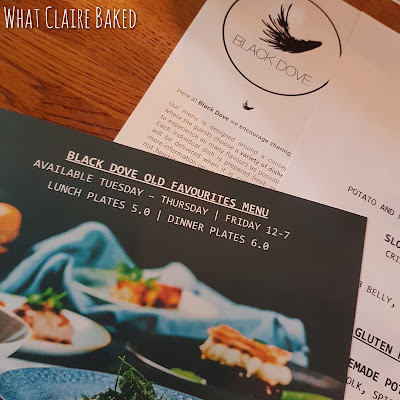 black dove new menu