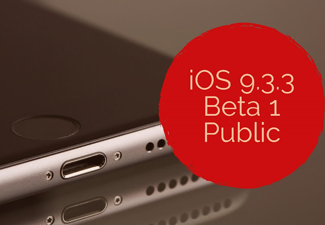 Apple released the first beta of iOS 9.3.3 to developers and has now made officially available to public testers as well for iPhone, iPad and iPod touch