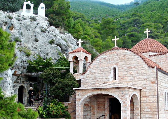 The monastery of Osios P[atapios, Loutraki, Greece Photo by Greeker than the Greeks