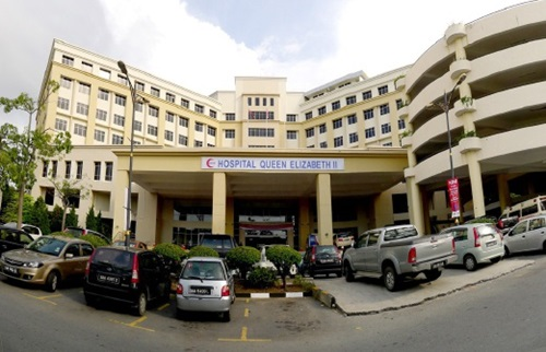 Mangsa mendapatkan rawatan zika di Hospital Queen Elizabeth II, kes kedua jangkitan zika di malaysia mangsa orang sabah, mangsa zika sabah meninggal dunia, kes zika di sabah, dijangkiti zika walaupun tidak ke luar negara